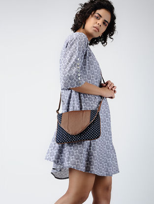 Grey Printed Cotton Dress