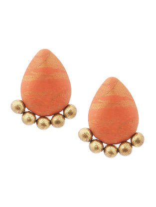 Orange Clay Earrings