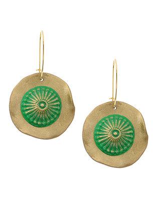 Green-Golden Clay Earrings
