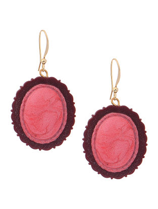 Pink-Red Clay Earrings