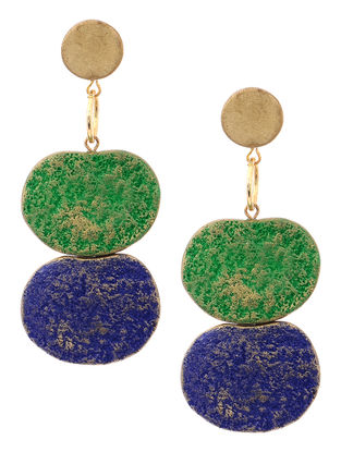 Green-Blue Clay Earrings
