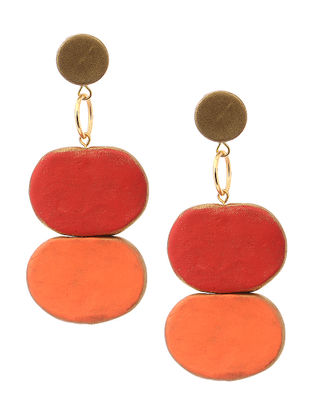 Peach-Red Clay Earrings