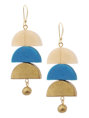 Blue-White Clay Earrings