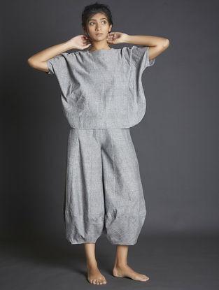 Grey Paneled Handspun Khadi Pants