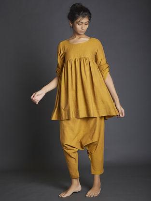 Mustard Handspun Khadi Pants