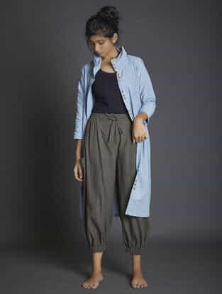 Charcoal Elasticated Waist Handspun Khadi Pants