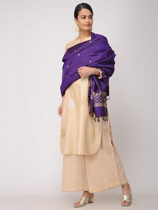 Purple Baluchari Silk Dupatta