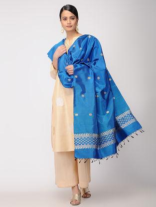Blue Baluchari Silk Dupatta