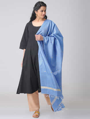 Blue Baluchari Silk Dupatta