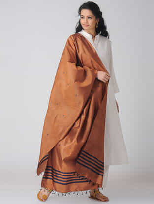 Brown Baluchari Silk Dupatta