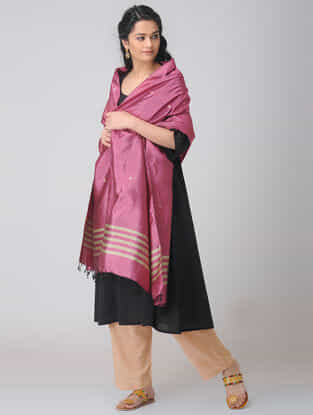 Pink Baluchari Silk Dupatta