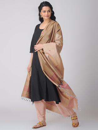 Beige Baluchari Silk Dupatta