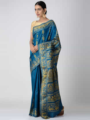 Blue Baluchari Silk Saree