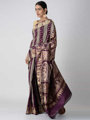 Purple Swarnachuri Silk Saree