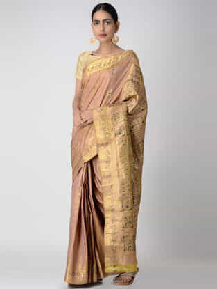 Peach Swarnachuri Silk Saree
