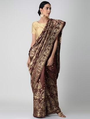 Maroon Swarnachuri Silk Saree