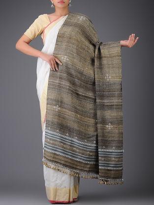 Brown-Grey Wool Shawl
