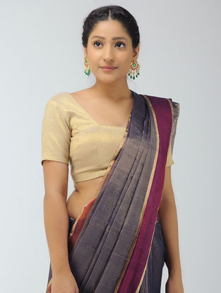 Black-Pink Chanderi Saree with Zari