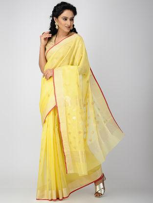 Yellow Chanderi Saree with Zari