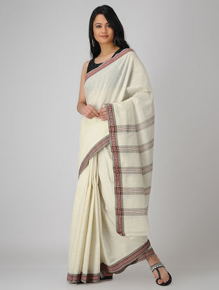 Ivory-Red Malkha Saree