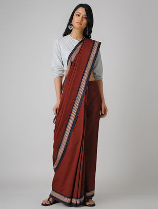 Red-Blue Malkha Saree