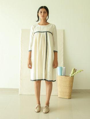 Ivory Natural-dyed Handwoven Cotton Silk Khadi Dress