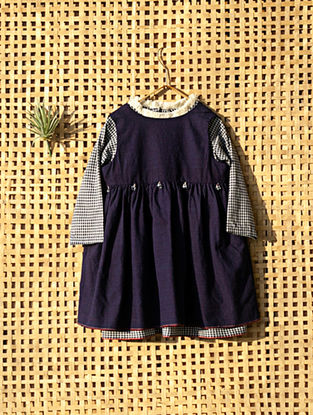 Indigo Handcrafted Double Layered Cotton Dress