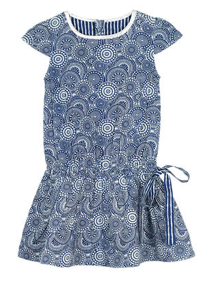 Indigo Printed Cotton Dress