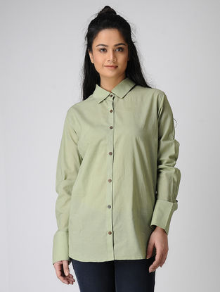 Green Dyed Cotton Shirt