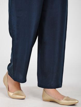Navy Silk Pants