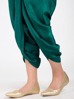 Green Silk Dhoti Pants
