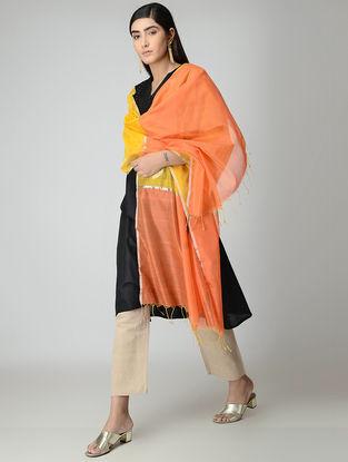 Orange-Yellow Chanderi Dupatta with Zari