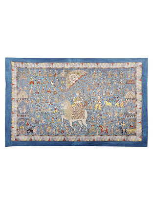 Goddess Durga Mata Ni Pachedi Kalamkari Artwork - 38.5in x 56in