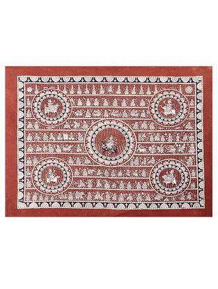 Goddess Sagat Mata Ni Pachedi Kalamkari Artwork - 39in x 49in