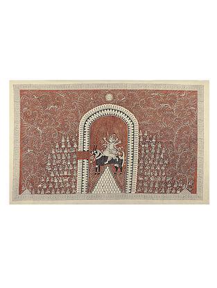 Goddess Pavavadi Mata Ni Pachedi Kalamkari Artwork - 43in x 64in