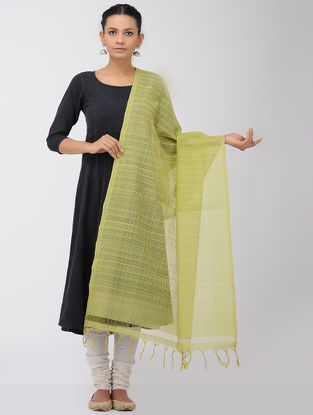 Green Missing Checks Mangalgiri Cotton Dupatta