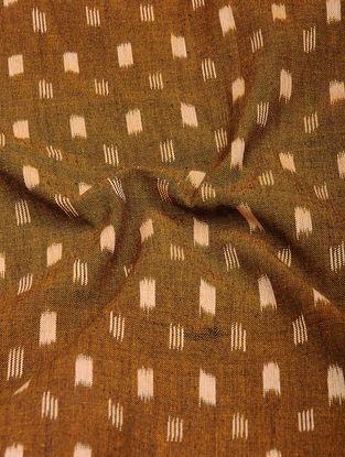 Brown-Beige Ikat Cotton Fabric
