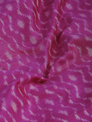 Pink-Ivory Ikat Cotton-Silk Fabric