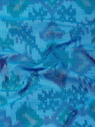 Blue Ikat Dupion Raw Silk Fabric