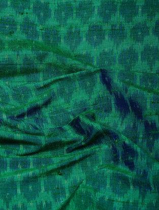 Green Ikat Dupion Raw Silk Fabric