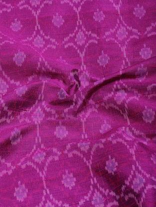 Magenta Ikat Dupion Raw Silk Fabric