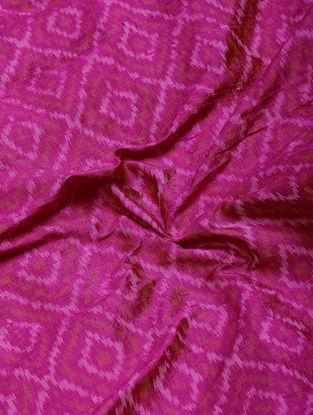 Pink Ikat Dupion Raw Silk Fabric