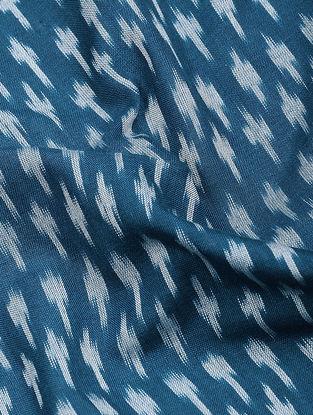 Blue-Ivory Ikat Cotton Fabric