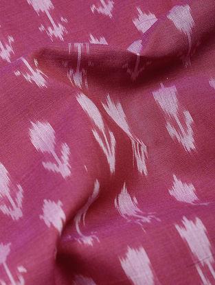 Pink-Ivory Ikat Cotton Fabric