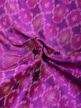Pink-Purple Ikat Dupion Raw Silk Fabric