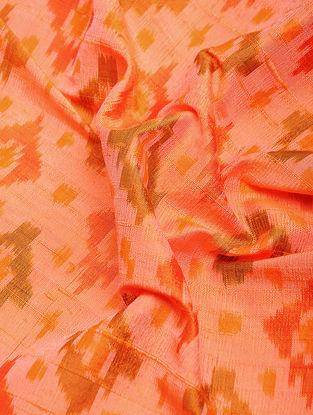 Orange Ikat Dupion Raw Silk Fabric