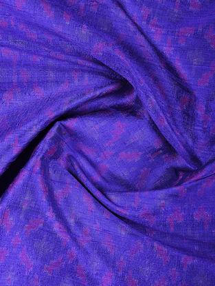 Blue-Pink Ikat Dupion Silk Fabric