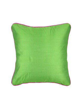 Green Crepe Cushion Cover with Piping (16in x 16in)