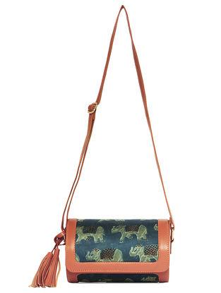 Green-Blue Handcrafted Sling Bag