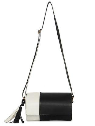 Black-White Handcrafted Sling Bag
